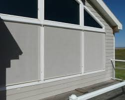 Roll Up Blinds For Windows Exterior Roll Up See Through Sun Shades