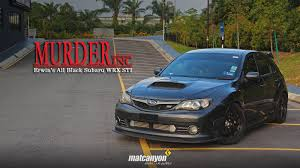 black subaru hatchback mat canyon murder inc erwin u0027s all black subaru wrx sti