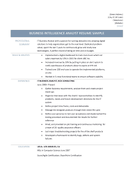 Accountant Resume Sample Pdf In India by It Business Analyst Resume Sample Splixioo