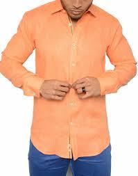 shop men orange italian shirts summer 2017 cuba