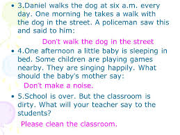 unit six pets grammar 1 do get to school on time be friendly