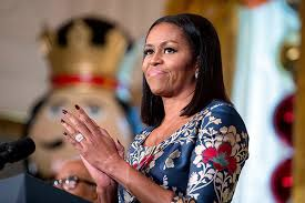 ms obamas hair new cut photos michelle obama s birthday pics celebrate 50th bday with