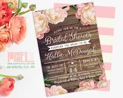 etsy wedding shower invitations rustic floral bridal shower invitation floral bridal shower