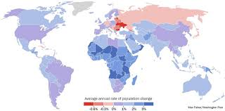 Cuba On A World Map by How The World U0027s Populations Are Changing In One Map The