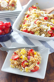 cold salads fresh corn and tomato pasta salad a kitchen addiction