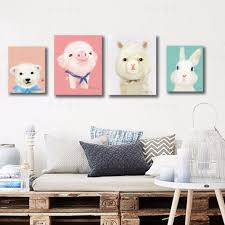 Kawaii Room Decor by Kawaii Animal Piggy Poster Print Modern Nordic Cartoon Nursery