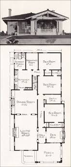 craftsman bungalow floor plans 3664 best vintage house plans images on vintage houses