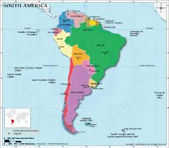 Countries In South America Map by South American Countries How Many Countries In South America