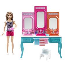Vanity Playset Barbie Light Up Vanity Makeup Set 31 Pc Home Vanity Decoration