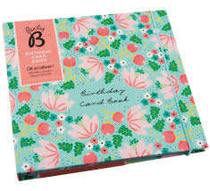 Book Birthday Card Busy B Birthday Card Book Floral Amazon Co Uk Office Products