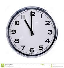 les heures de bureau l horloge ronde de bureau montre onze heures image stock image du