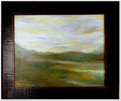 surrendered mist 16x20 oil on canvas board large frame 375
