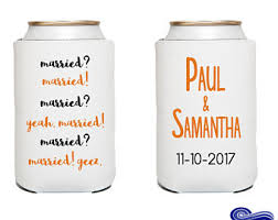 wedding koozie quotes wedding koozie etsy