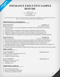 Professional Executive Resume Samples by Insurance Executive Resume Sample Resumecompanion Com Resume