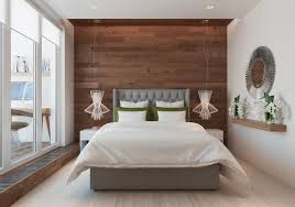 modern guest bedroom with single bed and hanging lights creative