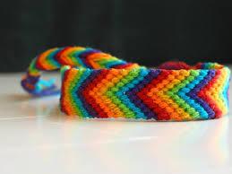 friendship bracelet rainbow images Dark rainbow chevron friendship bracelet friendship bracelet jpg