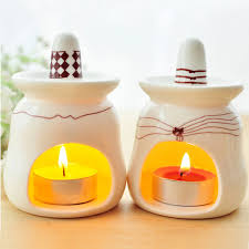 handmade home decorations pinny fashion ceramic oil burner cartoon candle aromatherapy oil