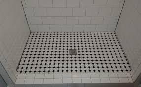 shower shower floor tile endearing tile shower floor leaking fix