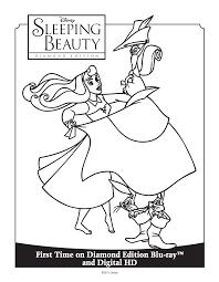 sleeping beauty coloring sheet sleeping beauty diamond edition
