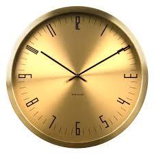 karlsson gold station wall clock designer golden wall clock