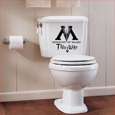harry potter ministry of magic toilet sign wall decal geekery