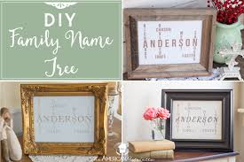 diy family name tree great gift decor idea the american