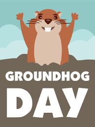 groundhog day cards cloudy groundhog day card birthday greeting cards by davia