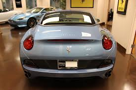 Ferrari California Light Blue - used 2010 ferrari california stock p3453b ultra luxury car from