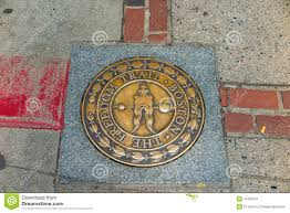 Freedom Trail Map Boston by Boston The Freedom Trail Massachusetts Stock Photo Image 41581627