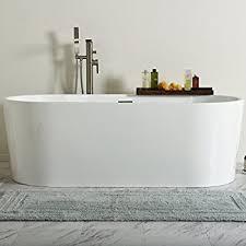Maykke Maykke Alsen 59 Inches Modern Rectangle Acrylic Bathtub