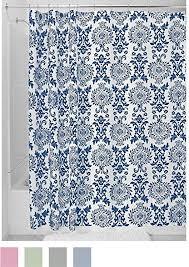 Blue Damask Shower Curtain Interdesign Damask Shower Curtain 72 X 84 Navy