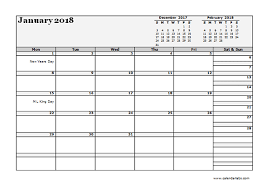 2018 monthly planner template landscape free printable templates