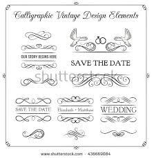 wedding ornaments decorative elements vintage ribbon stock vector
