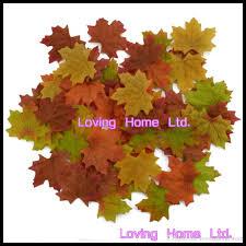 online cheap home decor colorful silk leaves autumn fall maple