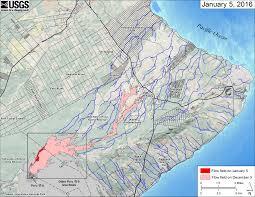 Map Of Hawaii Island Video Hawaii Lava Flow Update