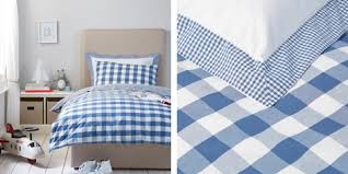 Red Gingham Duvet Cover Children U0027s Bed Linen Cot Single U0026 Double The White Company