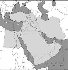 outline map middle east middle east outline map size