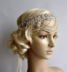 gatsby headband rhinestone flapper gatsby headband chain 1920s wedding