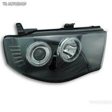 led black head lamp lights projector fit mitsubishi l200 triton