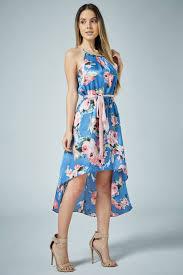 high low hem satin floral dress u2013 edgelook