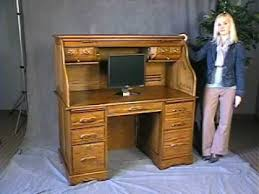 Computer Desk Oak Oak Roll Top Computer Desk