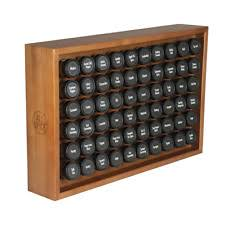 Spice Rack Countertop Allspice Wooden Spice Rack Includes 60 4oz Jars Cherry Ebay