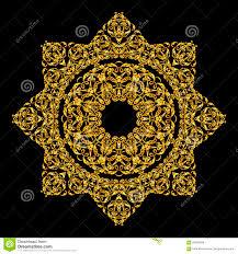 mandala ornament arabic vintage decorative gold background