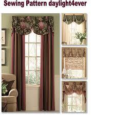 Valances Window Treatments Patterns Butterick 5057 Waverly Drapes Valances Window Treatments Sewing