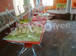 plastic chairs and tables with home furniture and décor
