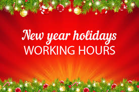 new year holidays working hours grably