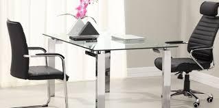 Glass Top Desk With Keyboard Tray Desk Glass Computer Desk Blithesome U Shaped Computer Desk