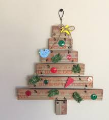 diy yard stick christmas tree mixed kreations