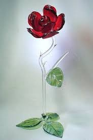 glass roses glass standing glass