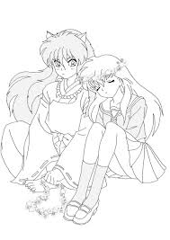 good inuyasha coloring pages 42 free coloring book